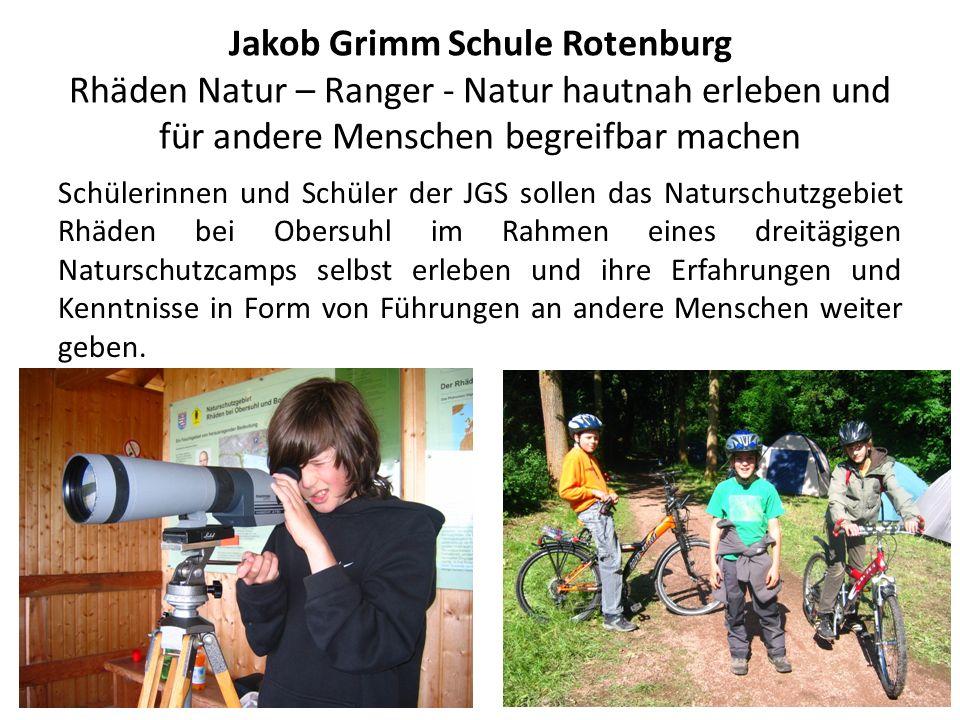 Jakob Grimm Schule Rotenburg Rhäden Natur – Ranger - Natur hautnah erleben und für andere Menschen begreifbar machen
