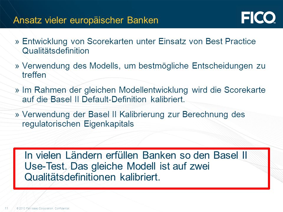 Ansatz vieler europäischer Banken