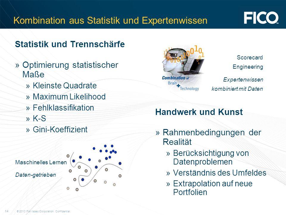 Kombination aus Statistik und Expertenwissen