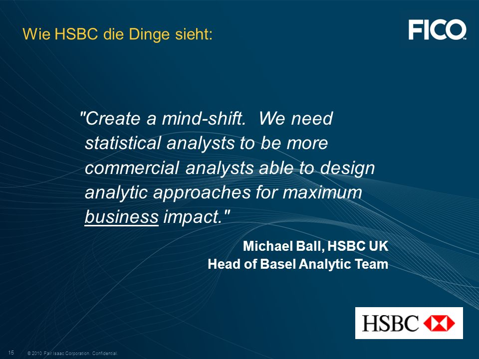 Wie HSBC die Dinge sieht: