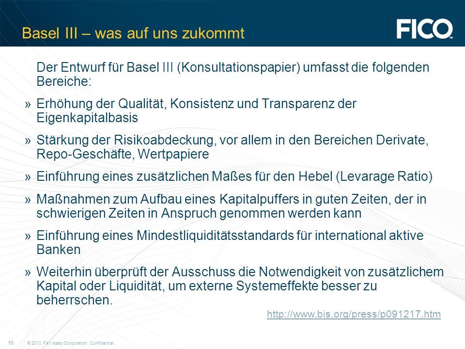 Basel III – was auf uns zukommt