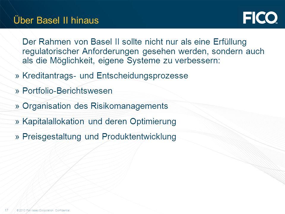 Über Basel II hinaus