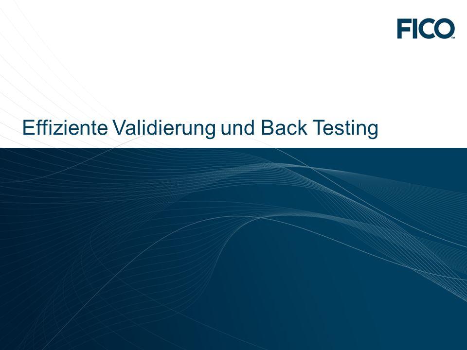 Effiziente Validierung und Back Testing