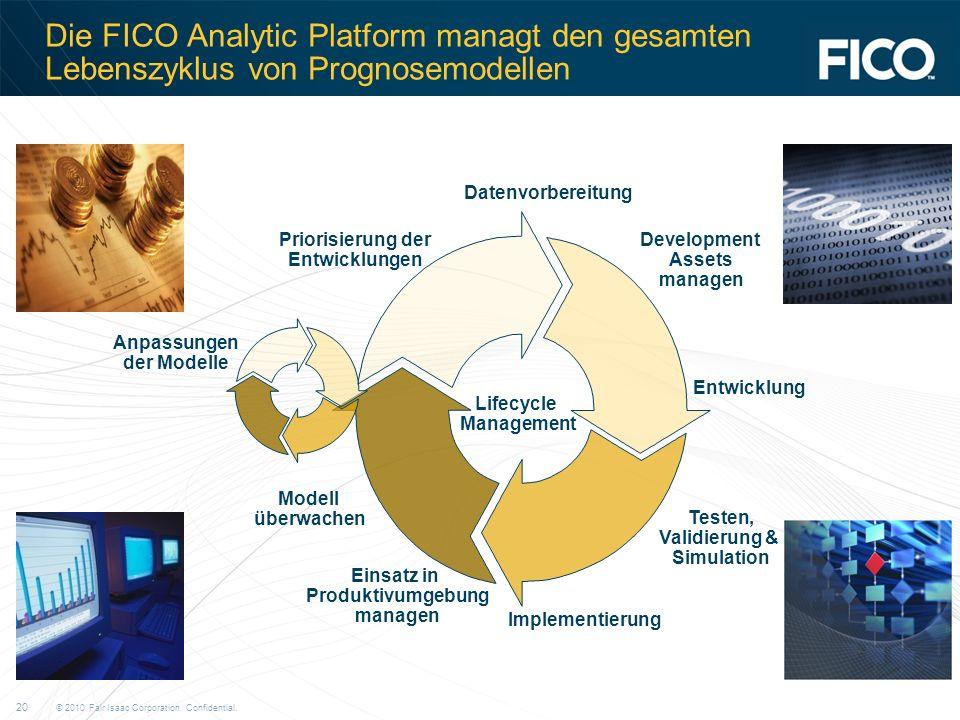 Die FICO Analytic Platform managt den gesamten Lebenszyklus von Prognosemodellen