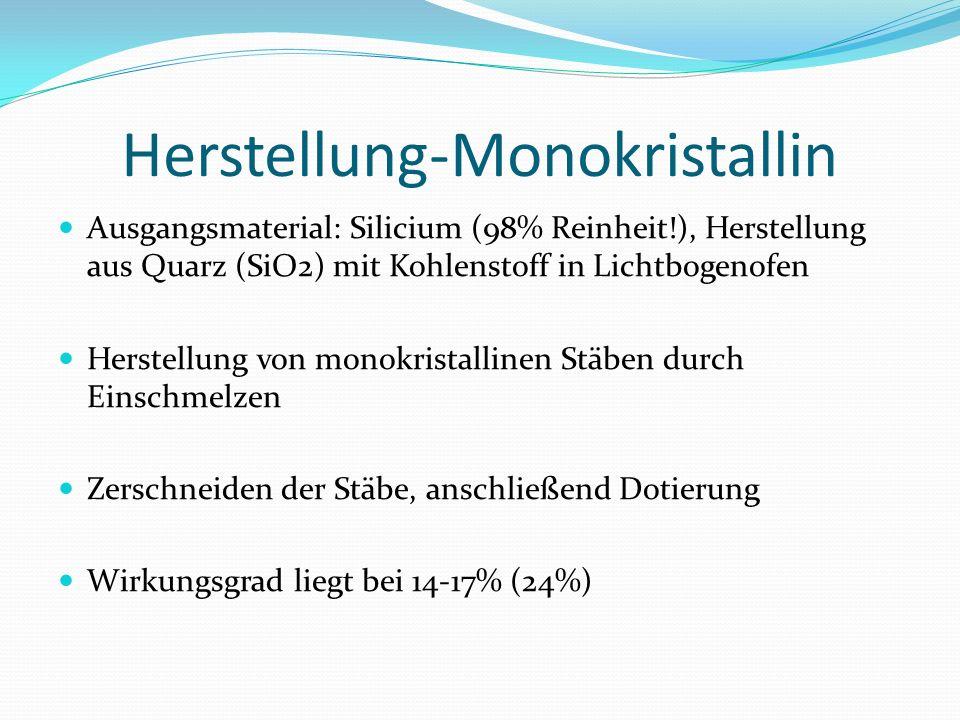 Herstellung-Monokristallin