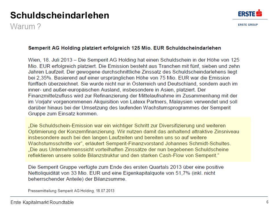 ERSTE KAPITALMARKT ROUNDTABLE Schuldscheindarlehen - ppt video ...