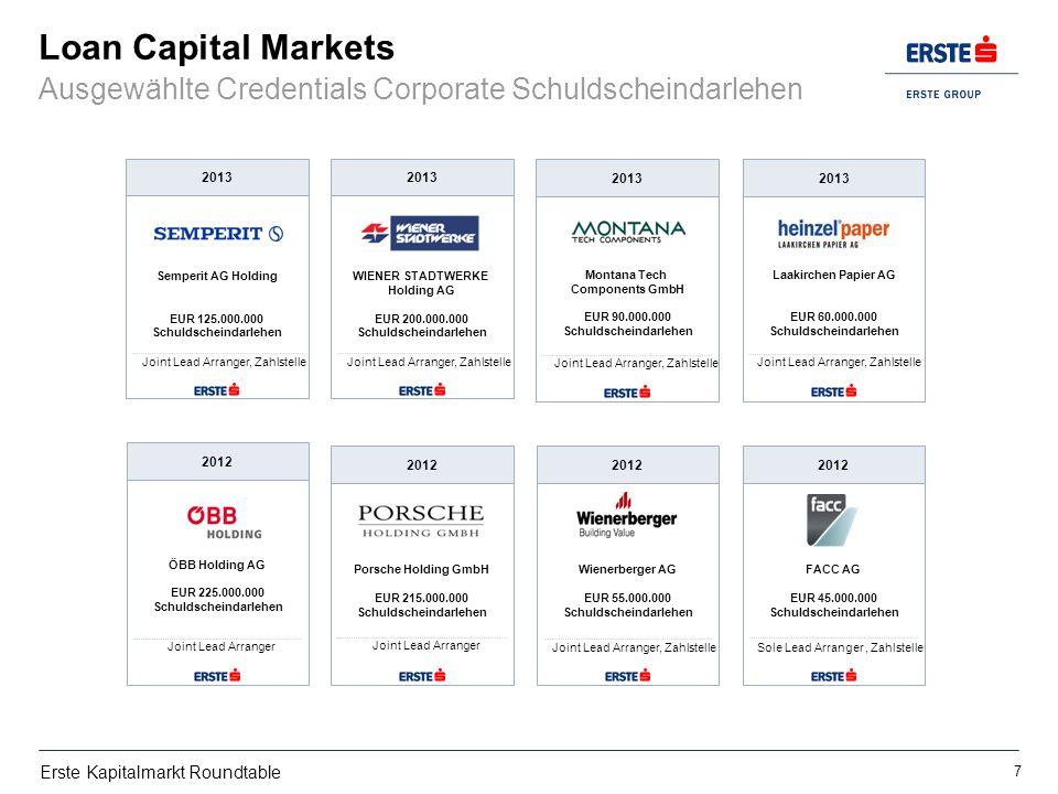 Loan Capital Markets Ausgewählte Credentials Corporate Schuldscheindarlehen. Semperit AG Holding. EUR 125.000.000.