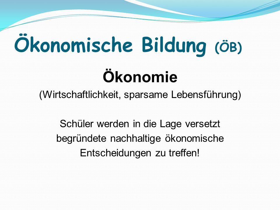 Ökonomische Bildung (ÖB)