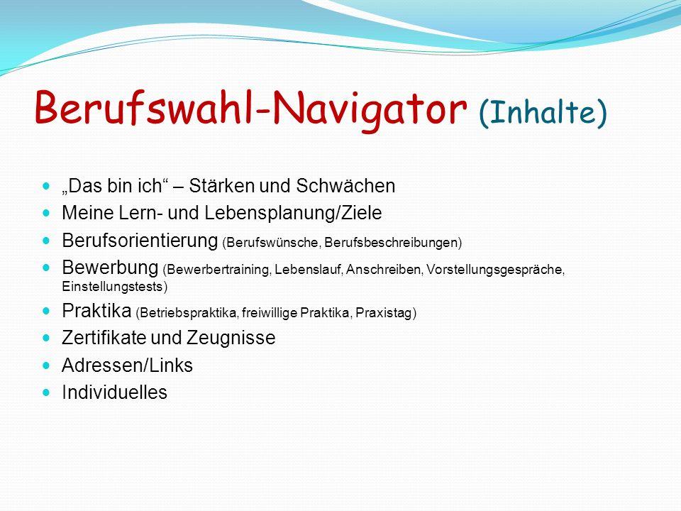 Berufswahl-Navigator (Inhalte)