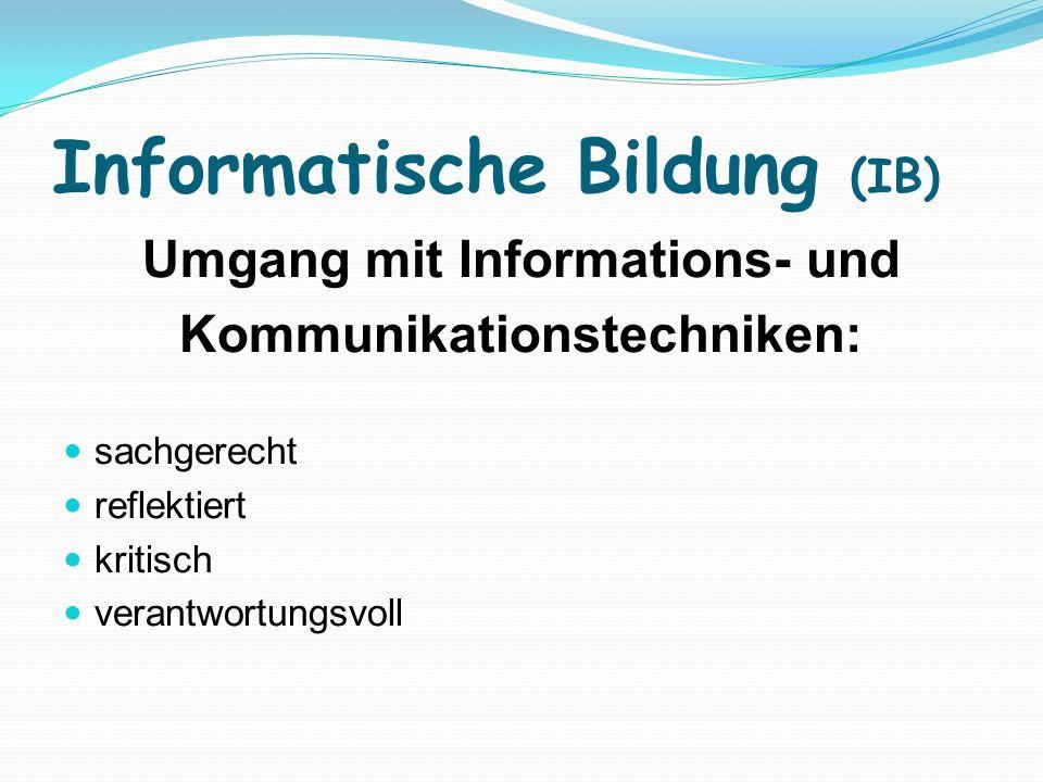 Informatische Bildung (IB)