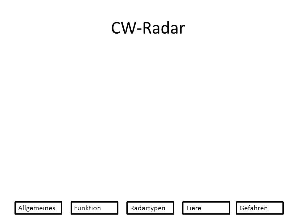 CW-Radar Allgemeines Funktion Radartypen Tiere Gefahren