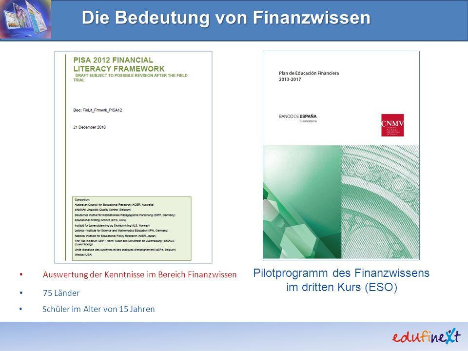 Pilotprogramm des Finanzwissens im dritten Kurs (ESO)
