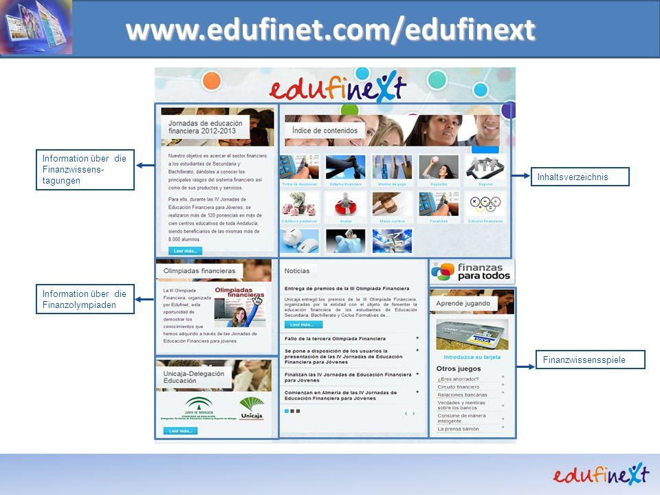 www.edufinet.com/edufinext Information über die Finanzwissens-tagungen