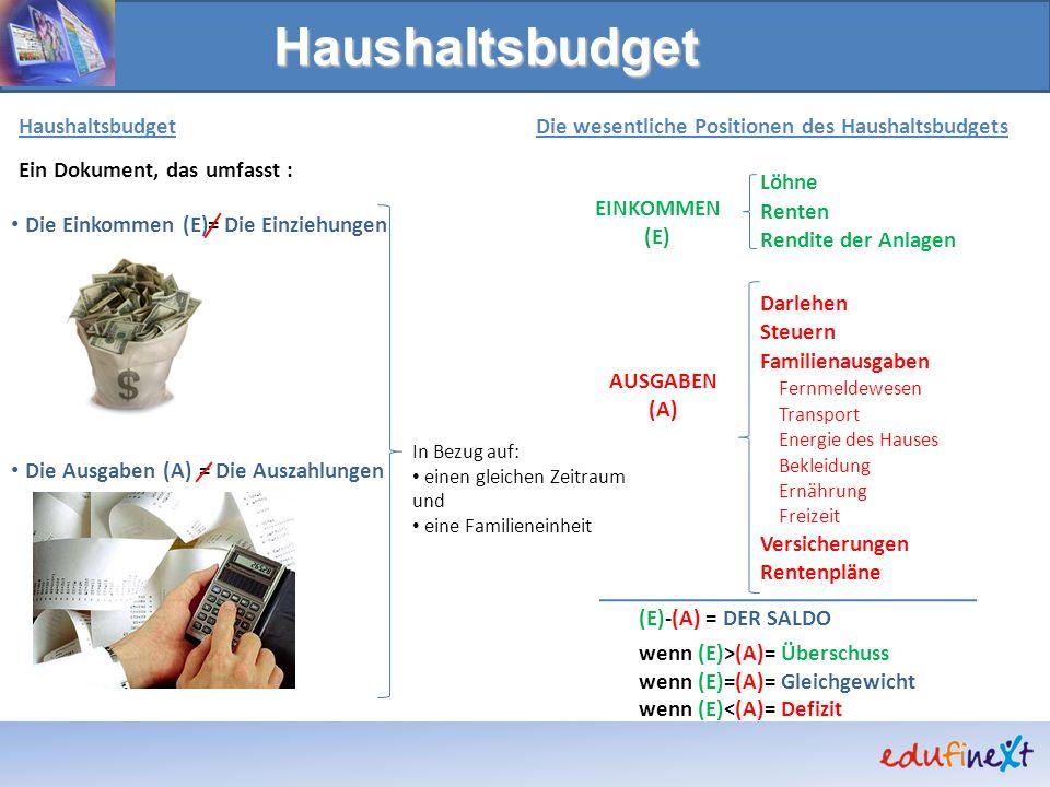 Haushaltsbudget Haushaltsbudget