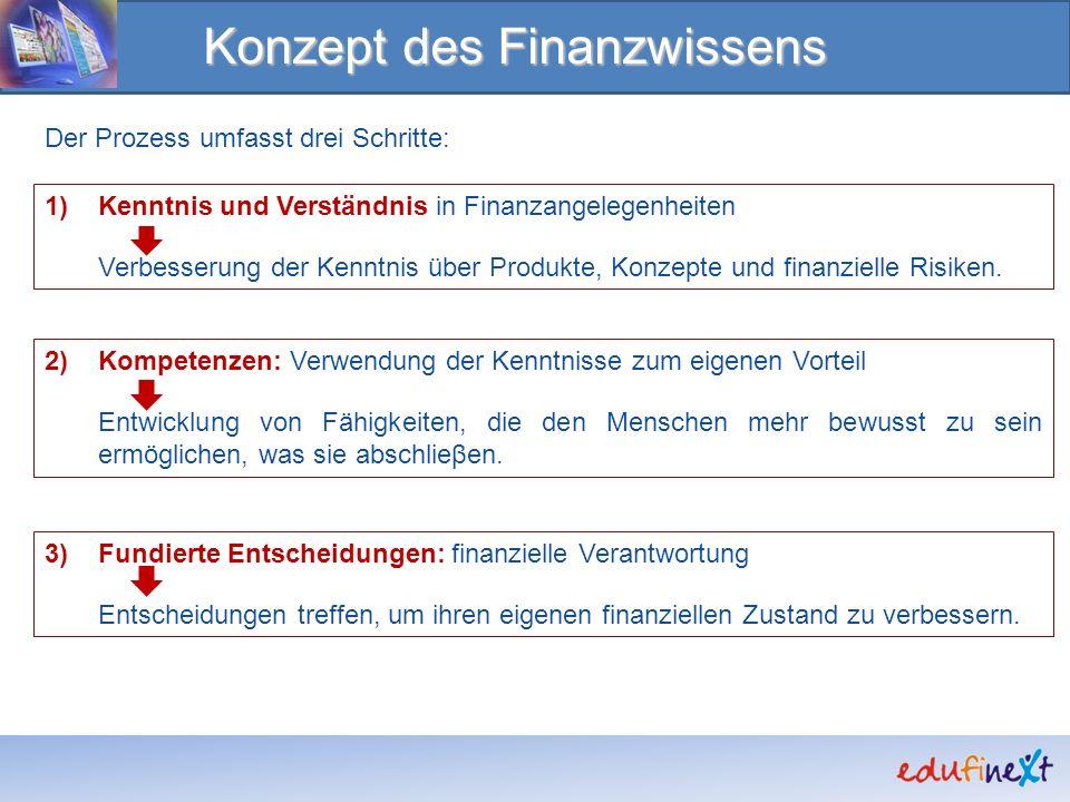 Konzept des Finanzwissens