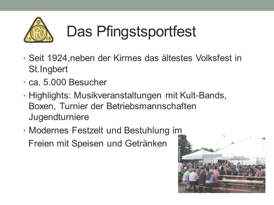 Das Pfingstsportfest Seit 1924,neben der Kirmes das ältestes Volksfest in St.Ingbert. ca. 5.000 Besucher.