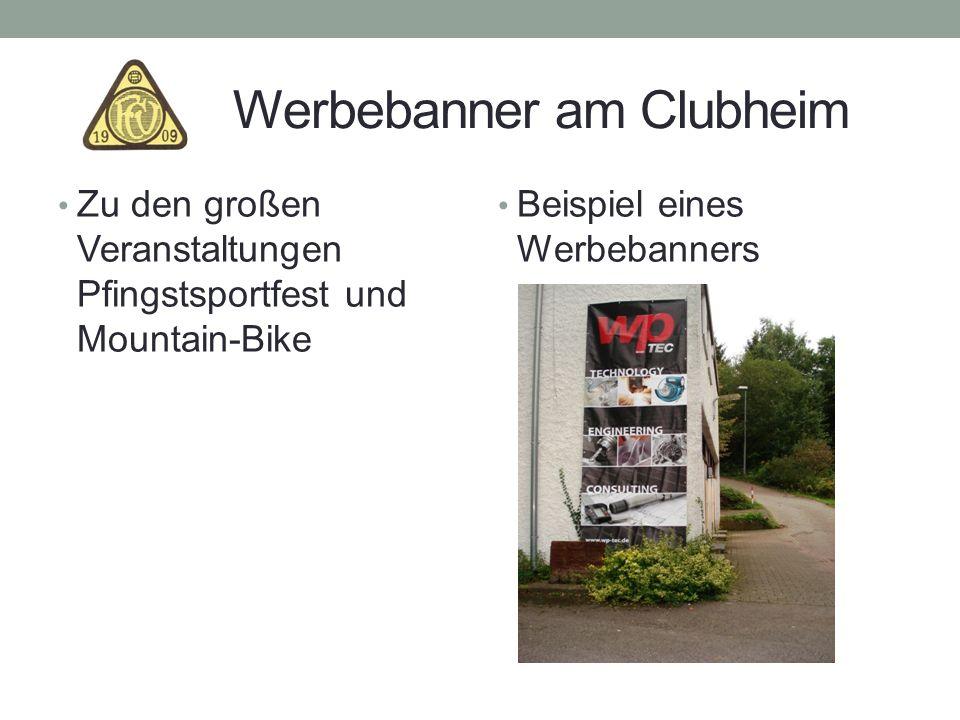 Werbebanner am Clubheim