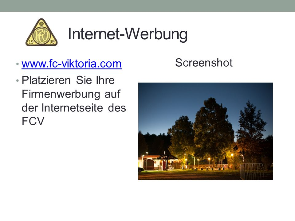 Internet-Werbung Screenshot
