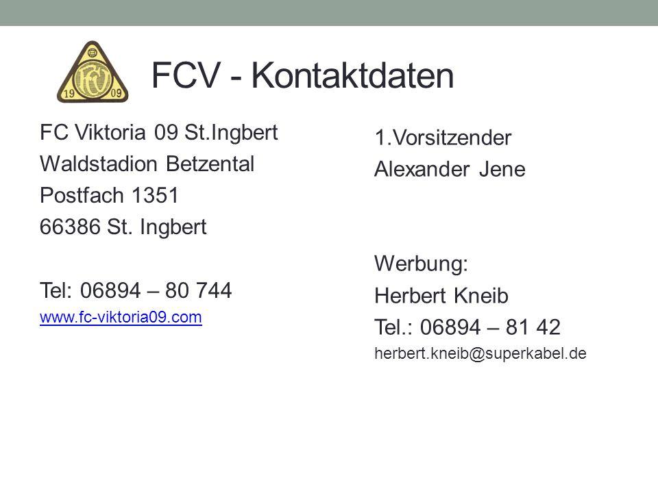 FCV - Kontaktdaten FC Viktoria 09 St.Ingbert 1.Vorsitzender