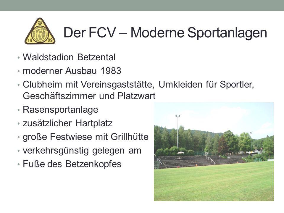 Der FCV – Moderne Sportanlagen