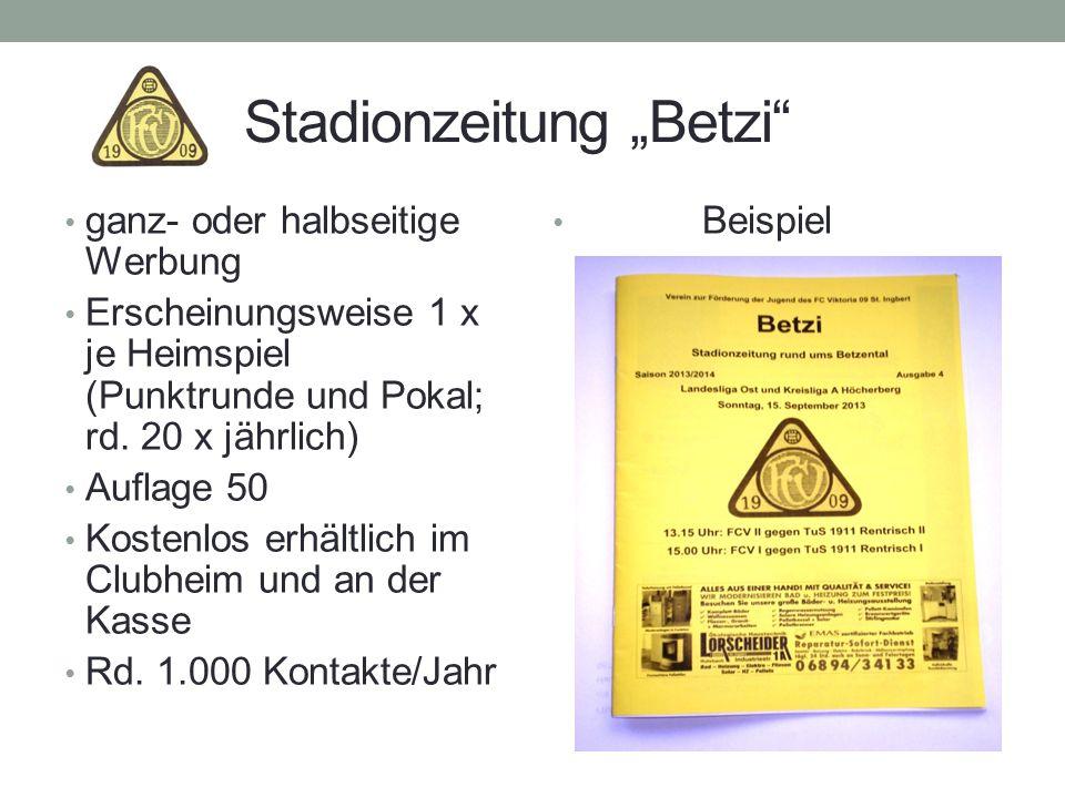 """Stadionzeitung """"Betzi"""