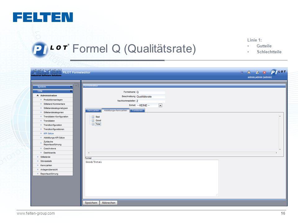 Formel Q (Qualitätsrate)