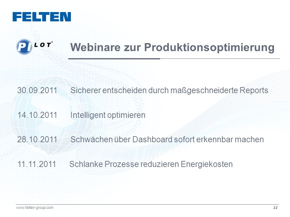Webinare zur Produktionsoptimierung