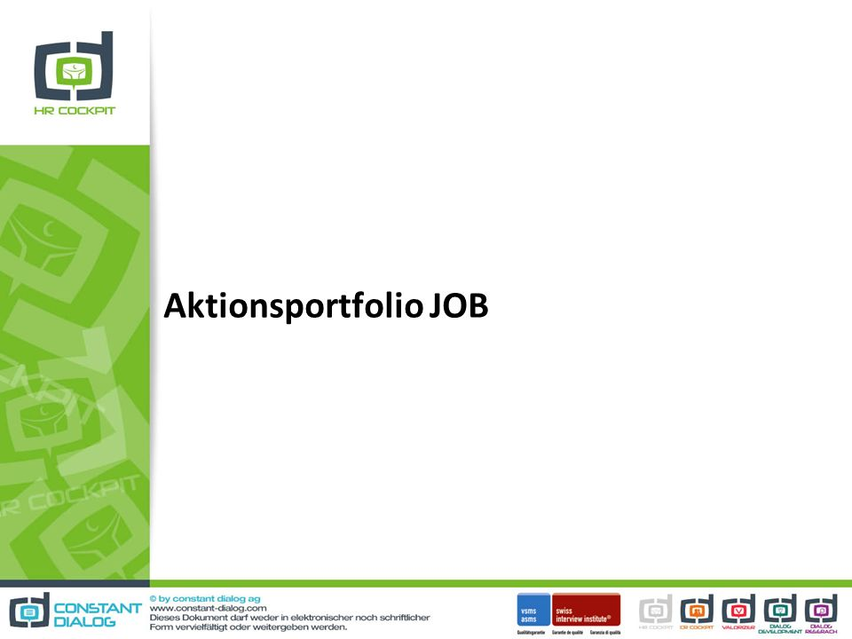 Aktionsportfolio JOB