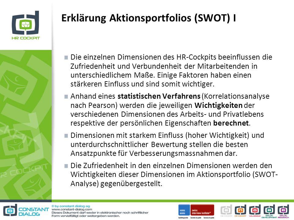 Erklärung Aktionsportfolios (SWOT) I