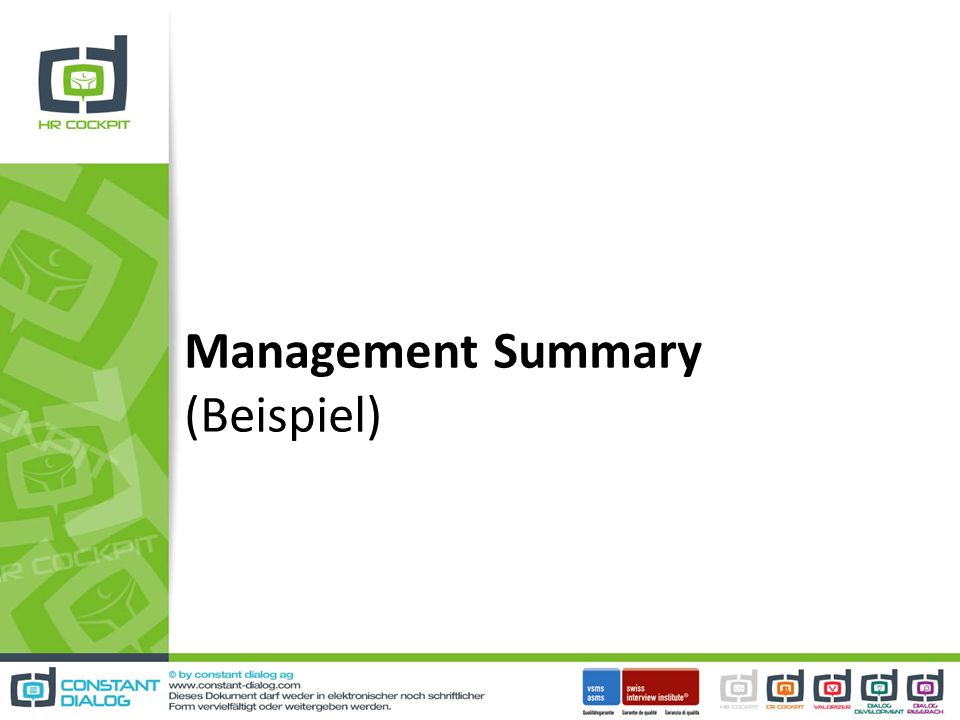 Management Summary (Beispiel)