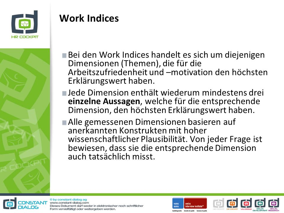 Work Indices