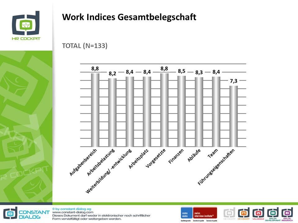Work Indices Gesamtbelegschaft
