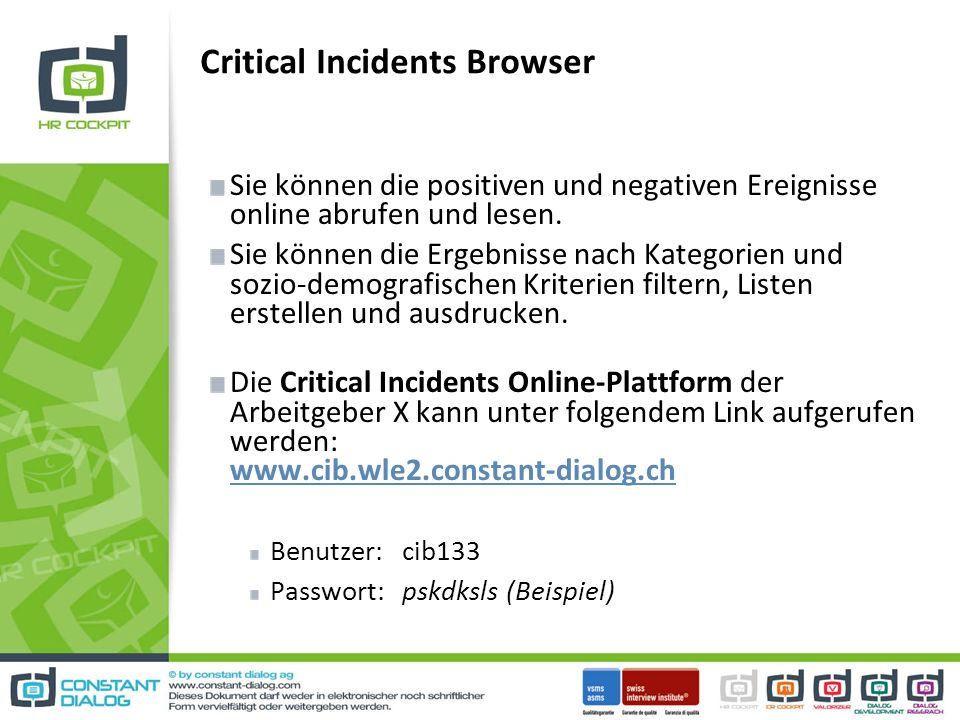 Critical Incidents Browser