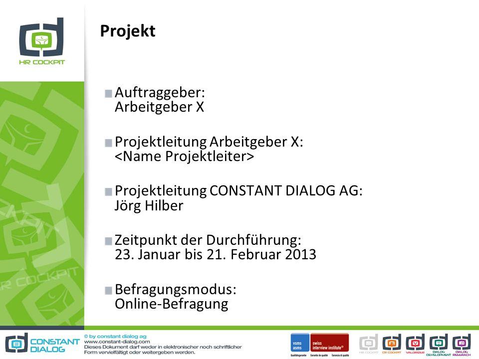 Projekt Auftraggeber: Arbeitgeber X