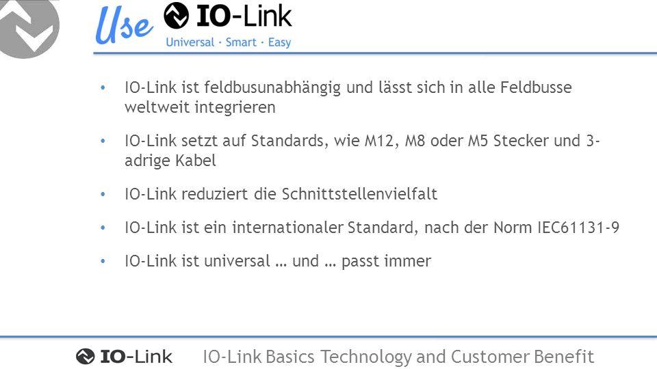 IO-Link ist feldbusunabhängig und lässt sich in alle Feldbusse weltweit integrieren