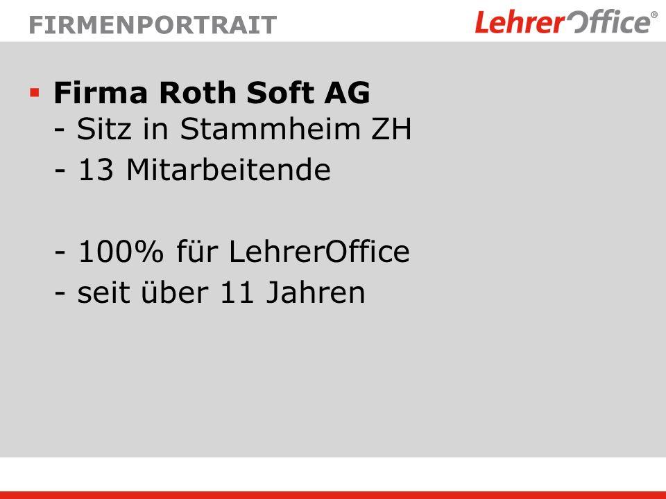 Firma Roth Soft AG - Sitz in Stammheim ZH - 13 Mitarbeitende