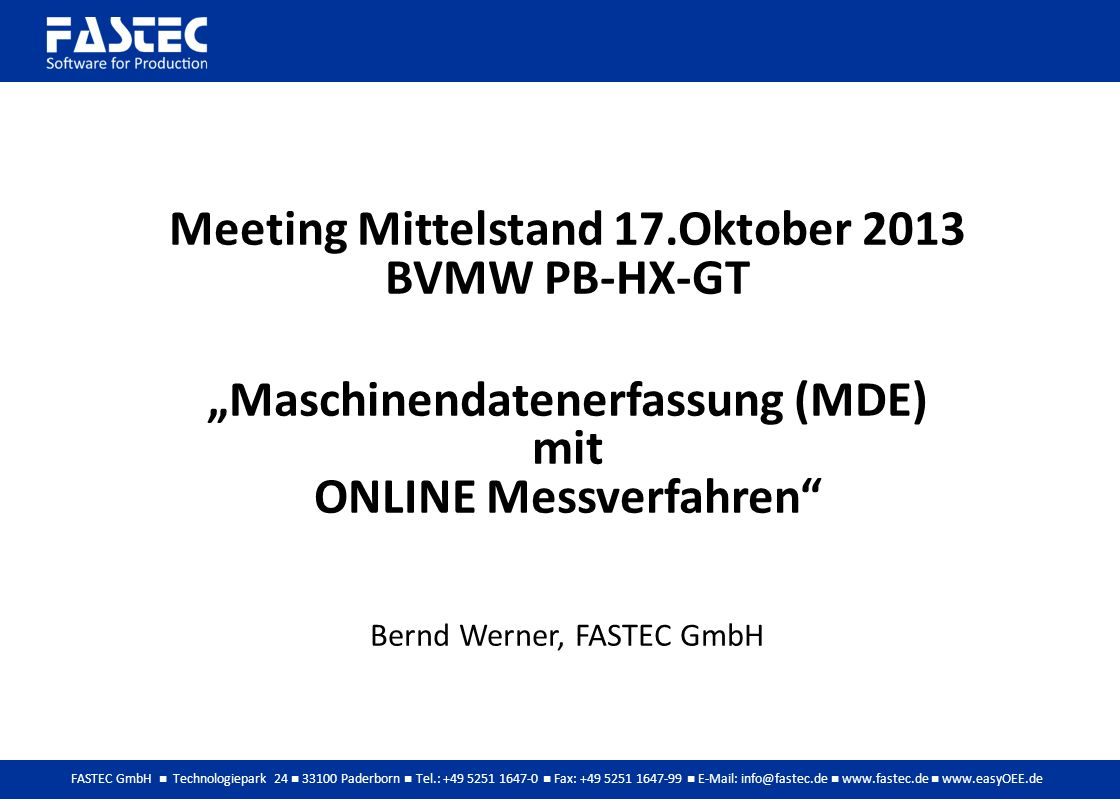 Meeting Mittelstand 17.Oktober 2013 BVMW PB-HX-GT