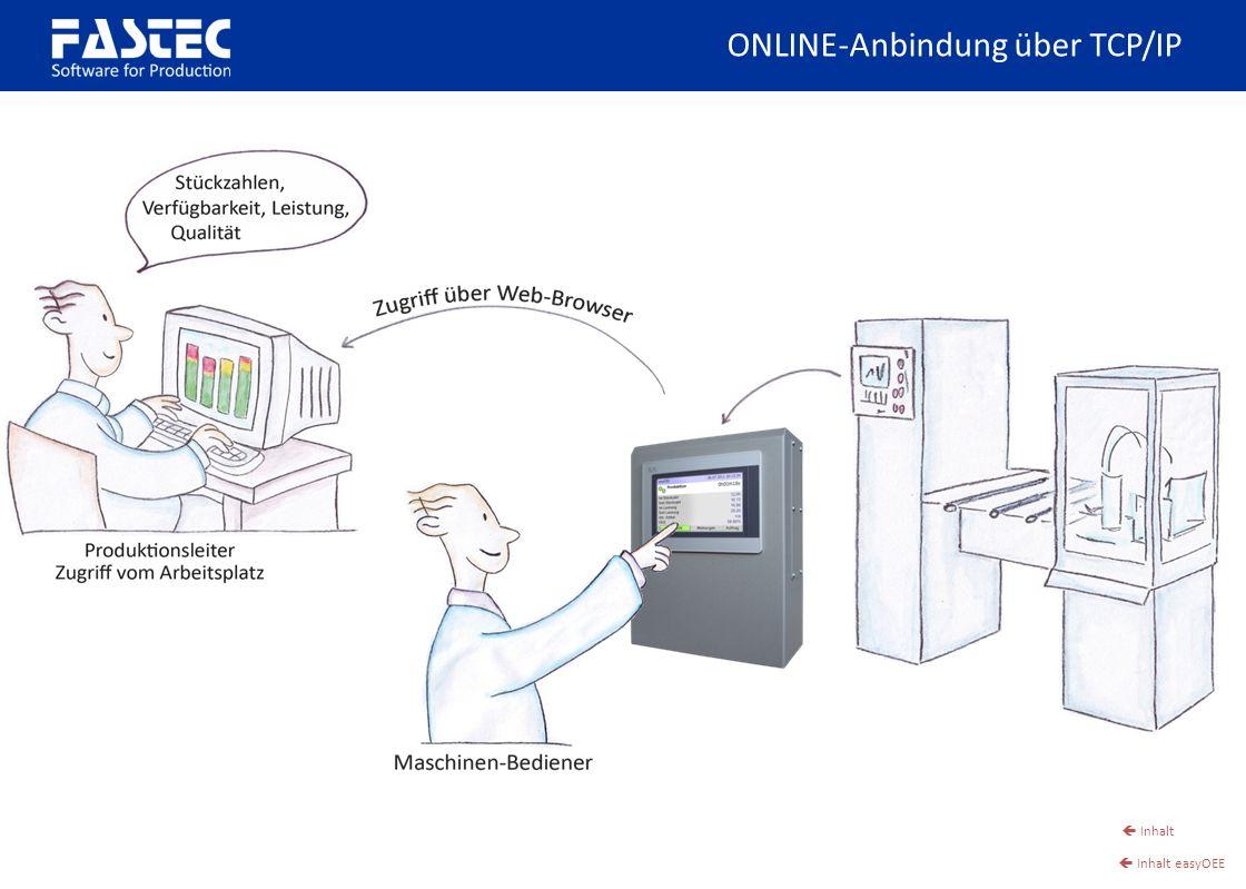 ONLINE-Anbindung über TCP/IP