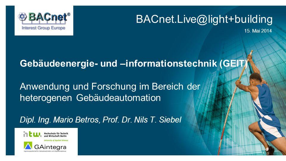 Gebäudeenergie- und –informationstechnik (GEIT)