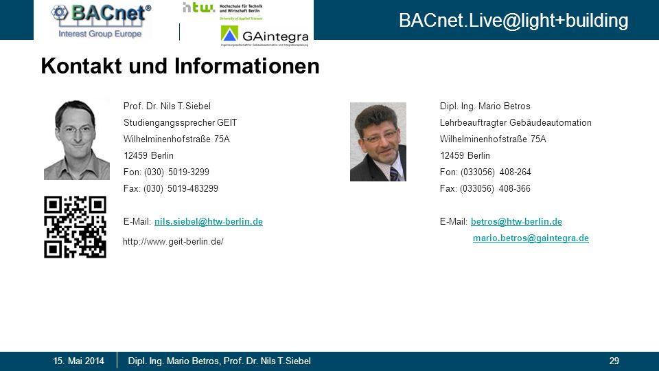 Kontakt und Informationen