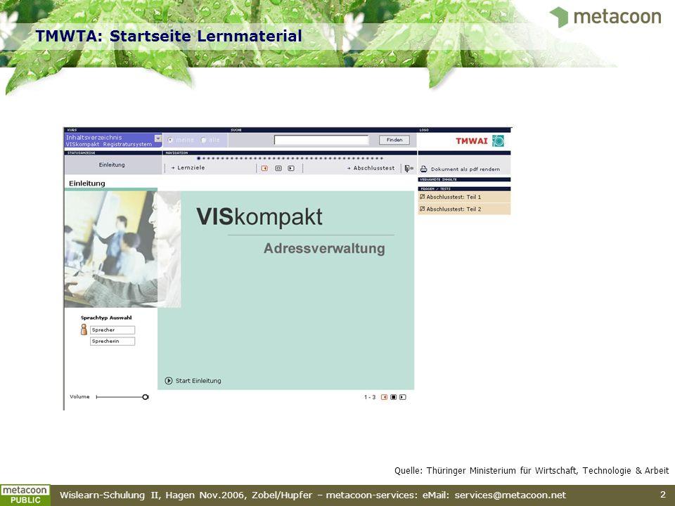 TMWTA: Startseite Lernmaterial