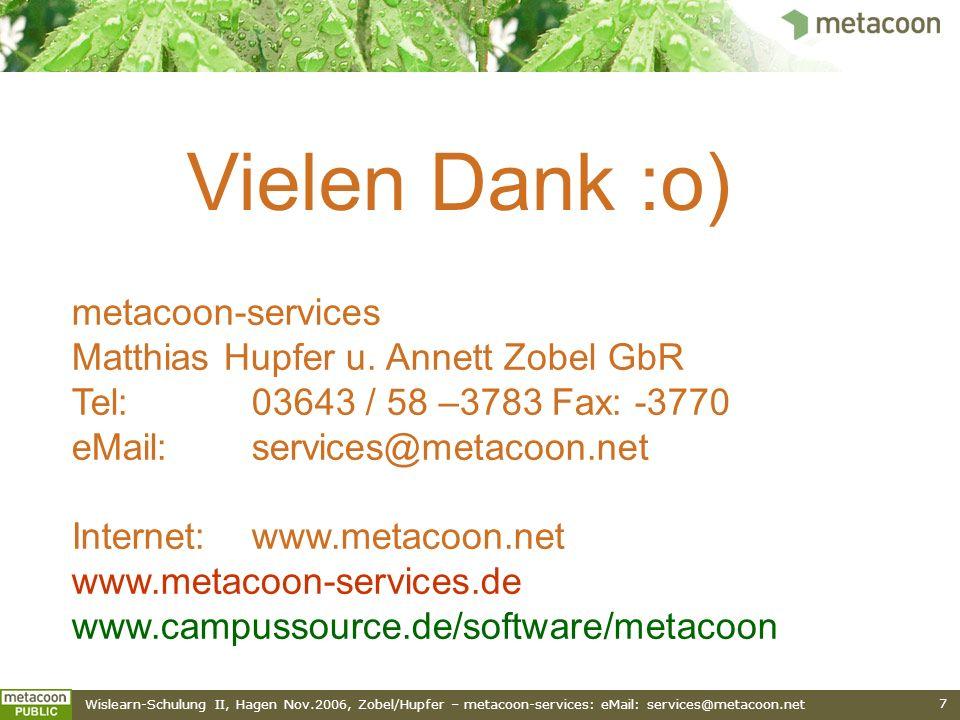 Vielen Dank :o) metacoon-services