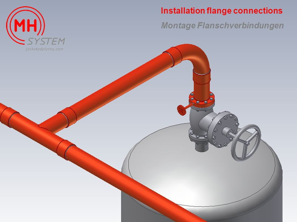 Installation flange connections