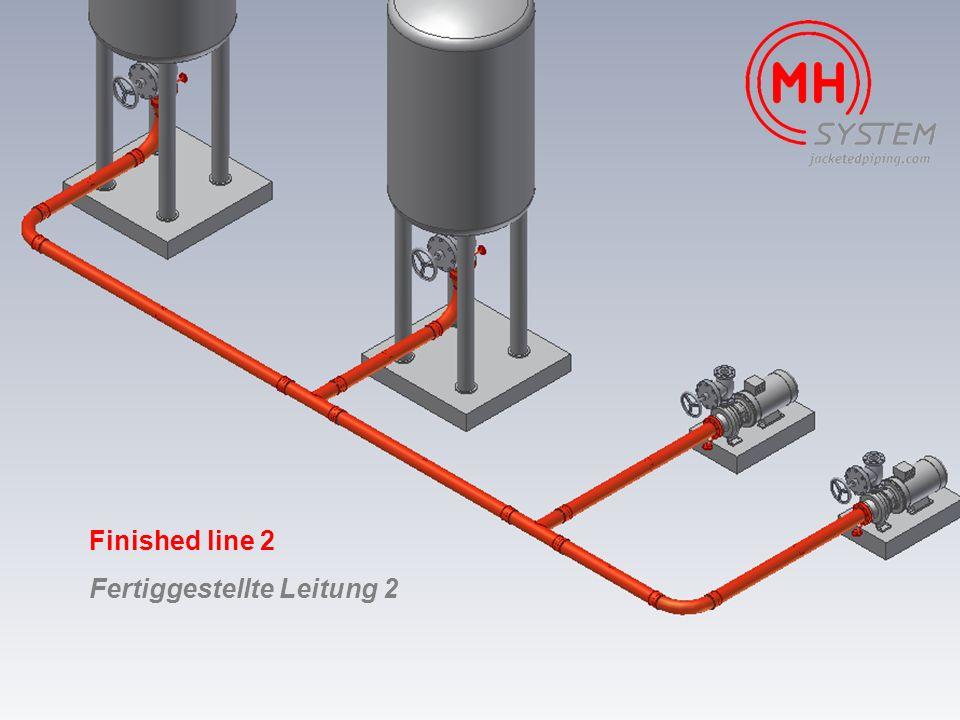 Finished line 2 Fertiggestellte Leitung 2