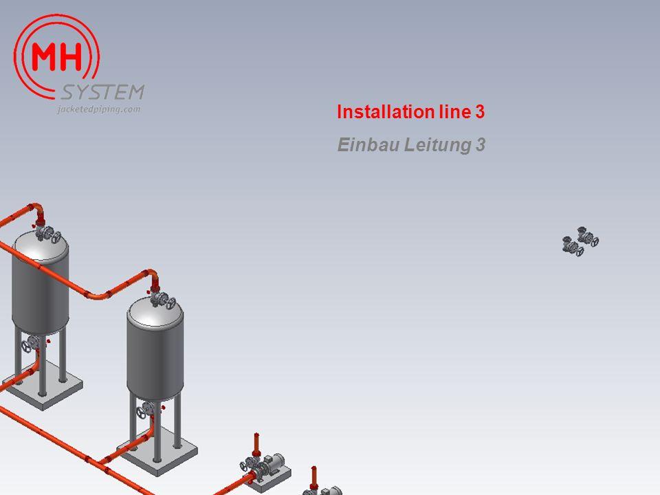 Installation line 3 Einbau Leitung 3