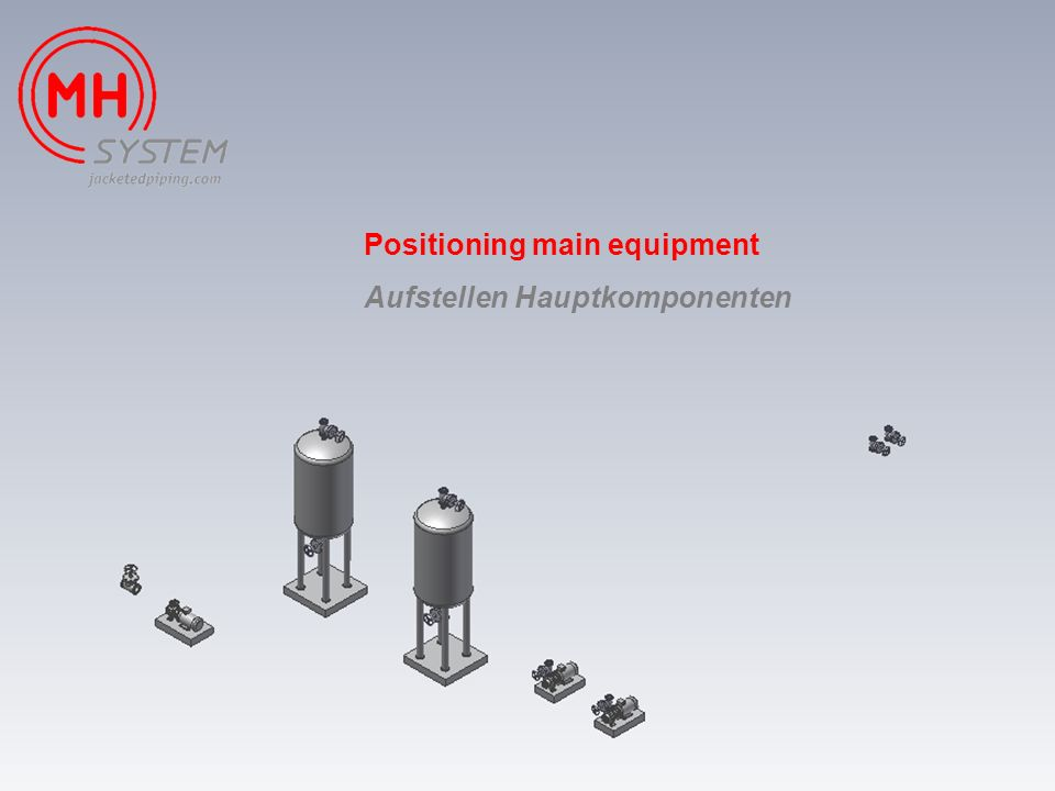 Positioning main equipment