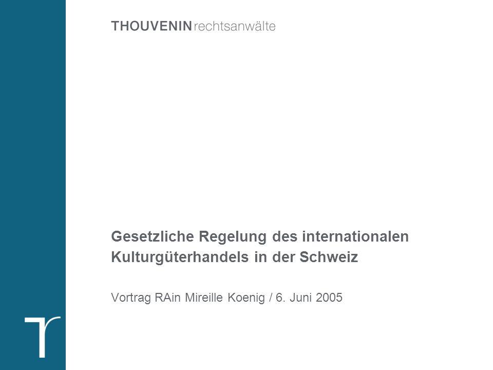 Übersicht Einleitung. Definition Kulturgut gemäss Kulturgütertransfergesetz.