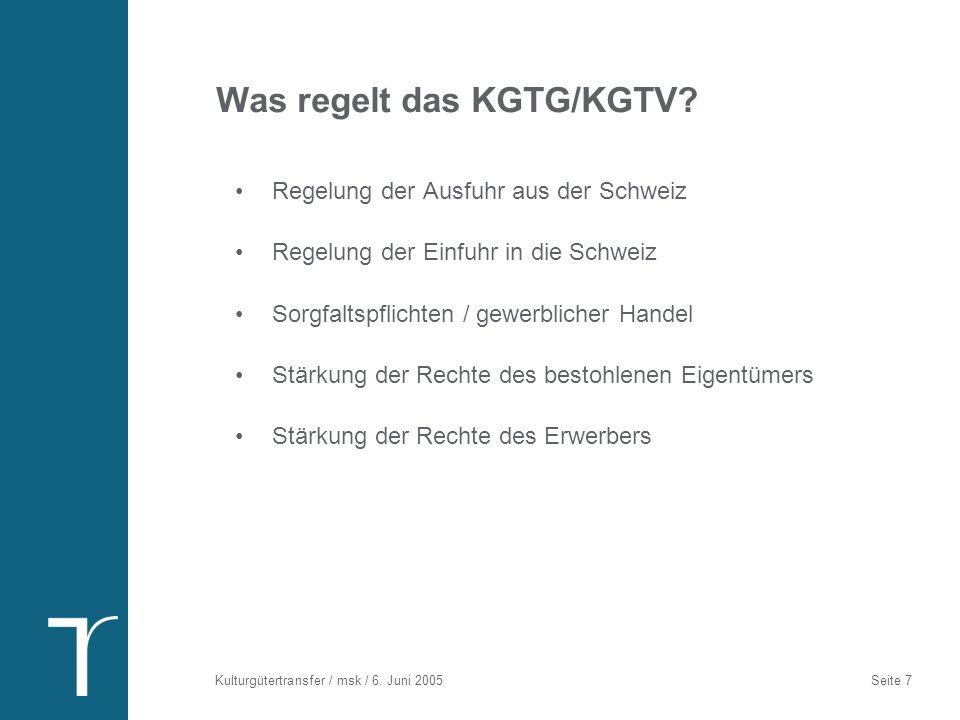 Regelung der Ausfuhr aus der Schweiz
