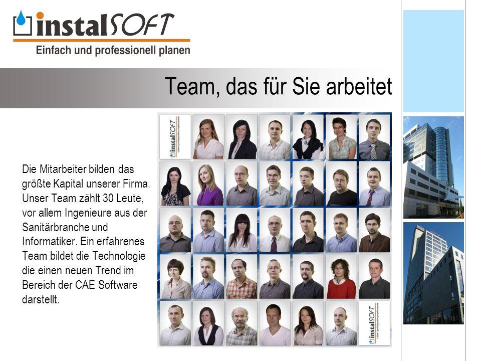 Team, das für Sie arbeitet