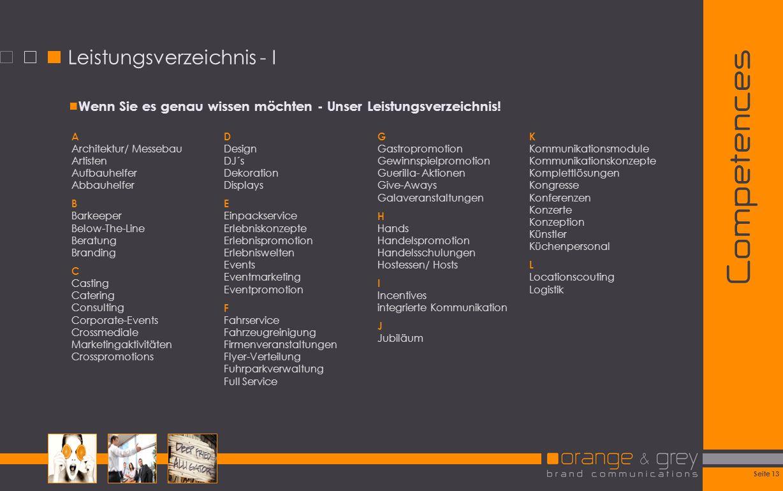 Leistungsverzeichnis - I